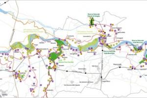 Percorsi ciclabili dei Parchi dell'Oltrepò Mantovano per GPS e smartphones